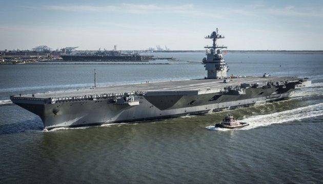 У США стартували випробування авіаносця нового покоління