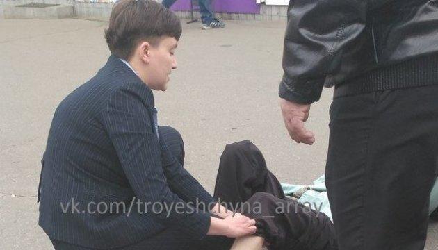 Foto: Auto mit Nadija Sawtschenko erfasst Fußgängerin