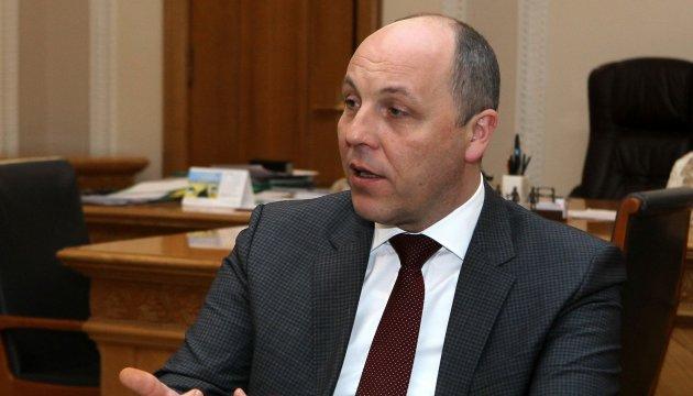 Парубій закликає американських конгресменів посилити санкції проти Росії