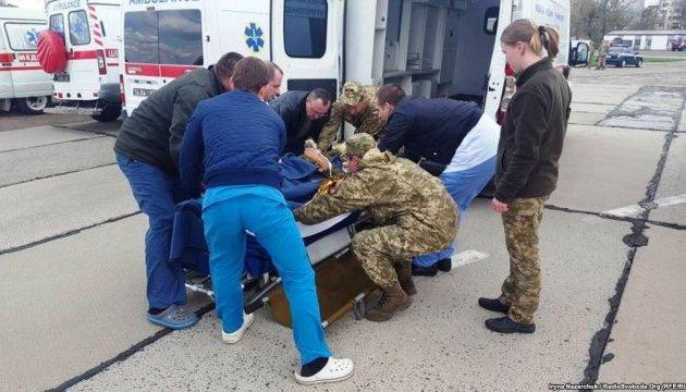 В Одессу прибыл самолет с 15 ранеными бойцами АТО