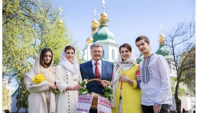 Poroshenko congratulates Ukrainians on Easter Day
