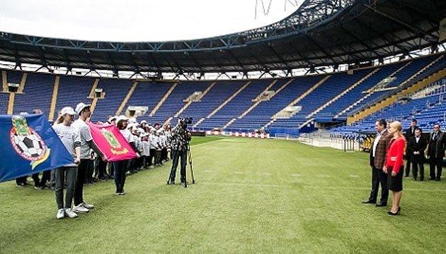 Президент ФФУ перевірив готовність стадіону