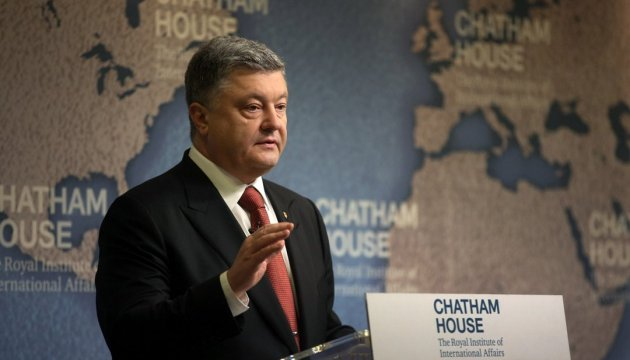 President Poroshenko: We have to seek peace with Russia through strength, not appeasement