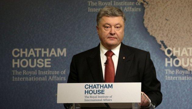 Poroschenko: Frieden mit Russland sollte man durch Stärke finden
