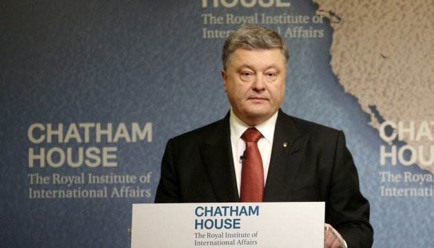 President Poroshenko: Russia trying to build alternative reality based on alternative values