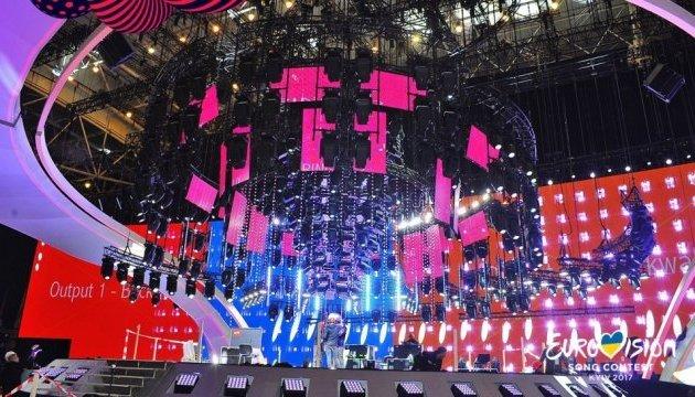2017年欧歌赛舞台布置情况