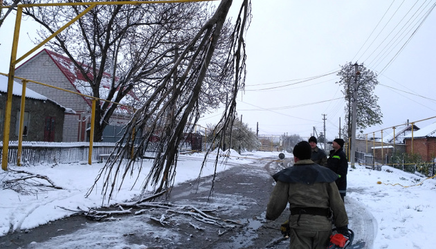 Bad weather causes blackouts in 15 towns and villages in Ukraine