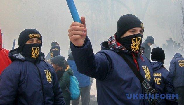 Украинские националисты не собираются отменять акцию под посольством РФ