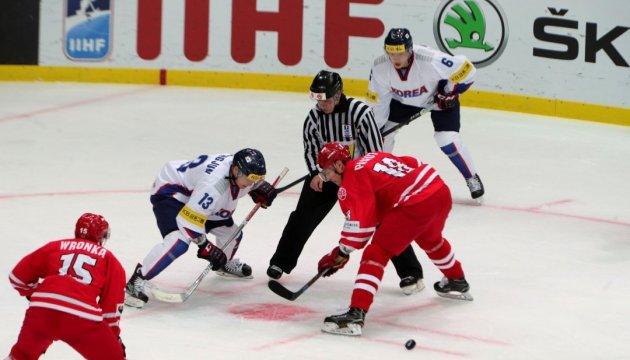 Корейці обіграли поляків на чемпіонаті світу з хокею у Києві