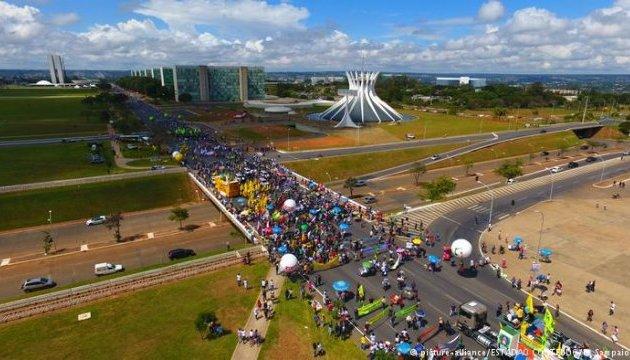Всеобщая забастовка и протесты в Бразилии: на улицы вышли десятки миллионов