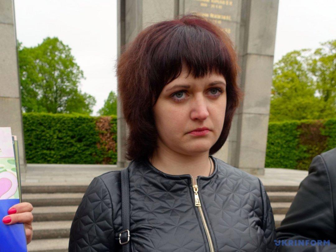 Дружина українського військовополоненого Сергія Гландара Катерина