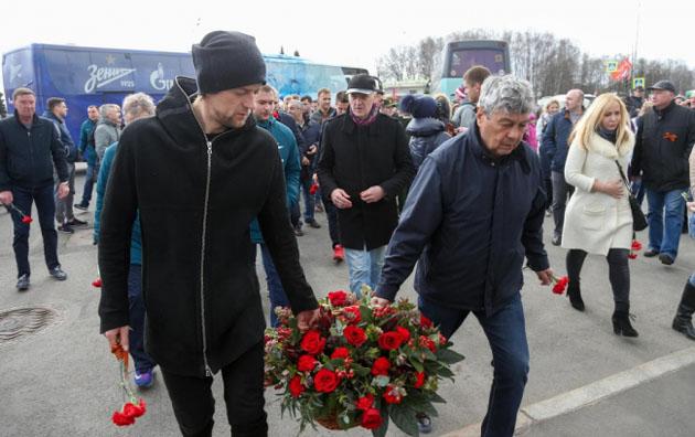Экс-футболист сборной Украины «засветился» сгеоргиевской лентой