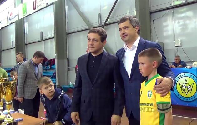 Сергій Владико та Вадим Костюченко під час церемонії нагородження переможців