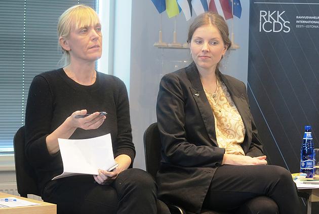 Ийви Анна Массо, политаналитик (Финляндия) и Лийс Липре - Яарме, советник  по стратегическим коммуникациям (правительство Эстонии)