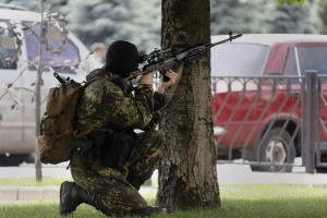 Russian snipers target surveillance technology in Donetsk