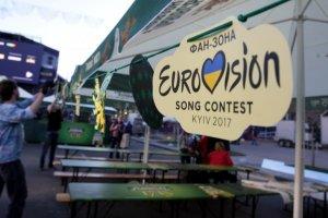Im Zentrum von Kiew Fan-Zone Eurovision Village eröffnet