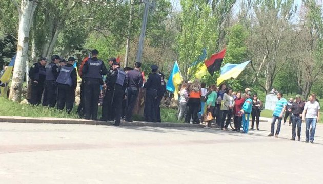 У Херсоні поліція розборонила бійку мітингувальників