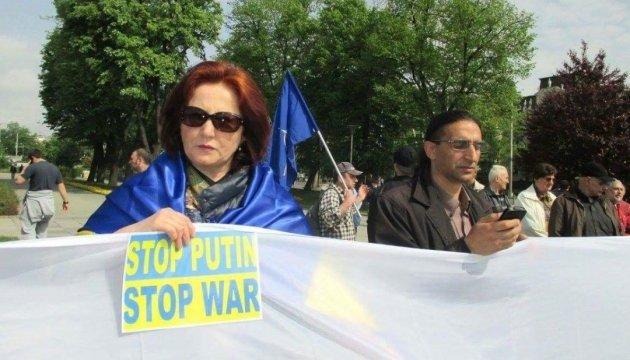 """У Софії вийшли перекрити """"собакам Путіна"""" шлях на Берлін"""