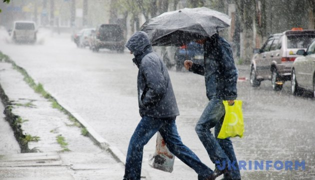 Більшу частину території України накриють дощі