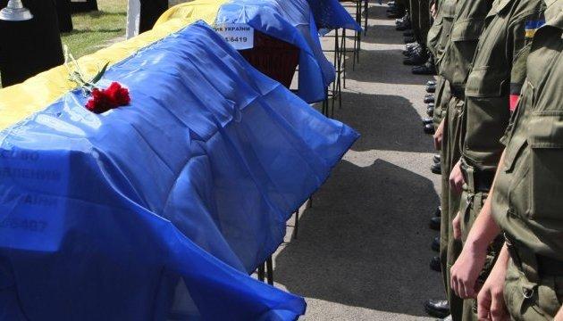 Les habitants de Dnipro ont dit adieu à 3 militaires tués dans l'arc de Svitlodarsk