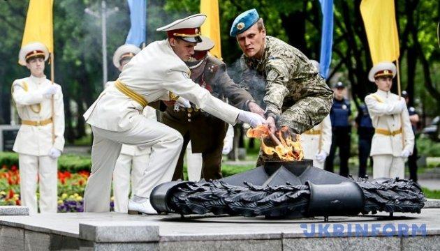 У Запоріжжі ветерани Другої світової та АТО запалили Вічний вогонь