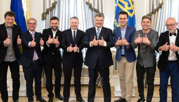 Poroschenko lobt perfekte Organisation des Eurovision Song Contest in Kiew