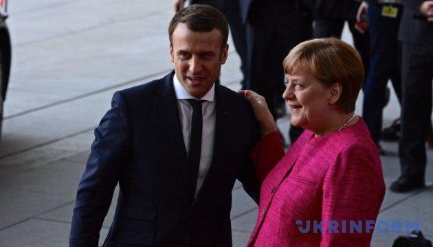 Розпочалася зустріч Макрона та Меркель