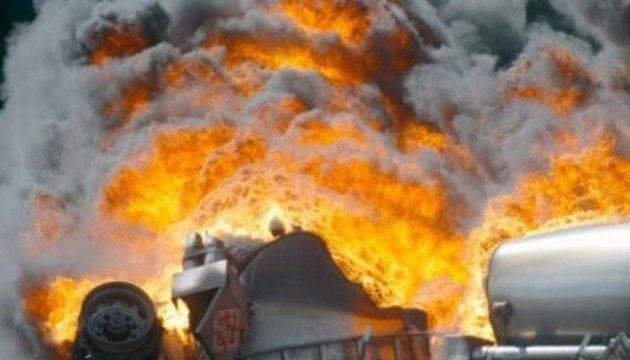 У Харкові загорівся бензовоз - приймальник з 80% опіками тіла