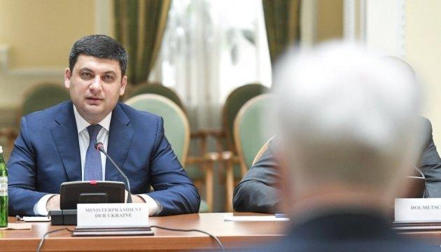 Groysman destaca la dinámica positiva del desarrollo de las relaciones entre Ucrania y Baviera