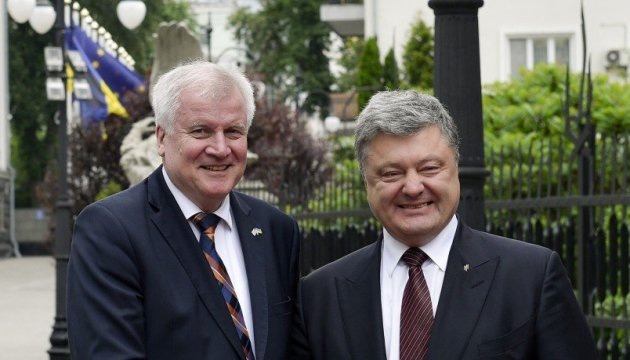President of Ukraine, PM of Bavaria discuss situation in Donbas