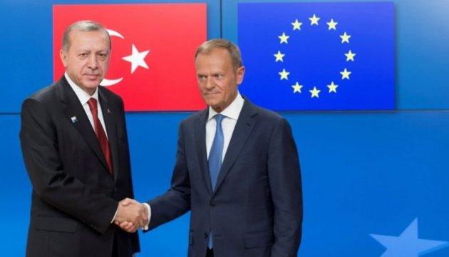 Керівництво ЄС обговорило з Ердоганом майбутнє двосторонніх відносин