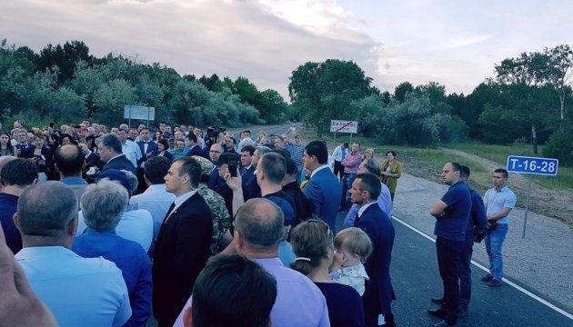 Президент відкрив відремонтовану дорогу Спаське - Вилкове