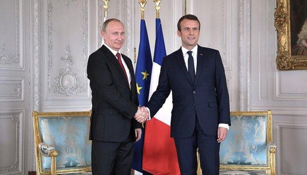 У Путіна заперечують, що на зустрічі з Макроном йшлося про політв'язнів
