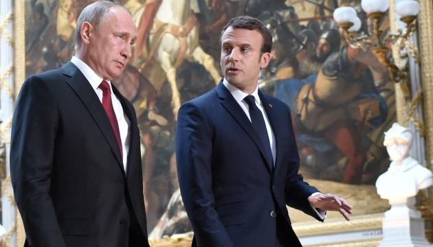 Кремль: Макрон и Путин обсудили транзит российского газа через Украину
