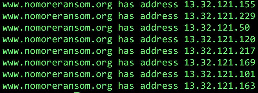 $ host www.nomoreransom.org