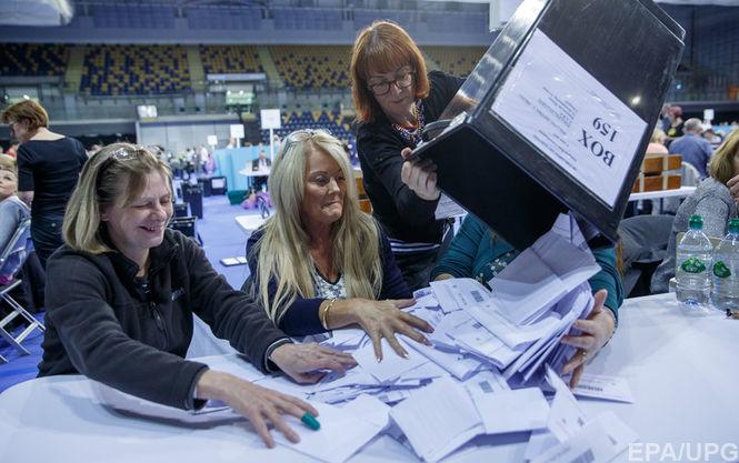 Позачергові вибори уБританії: перші дані екзит-полів