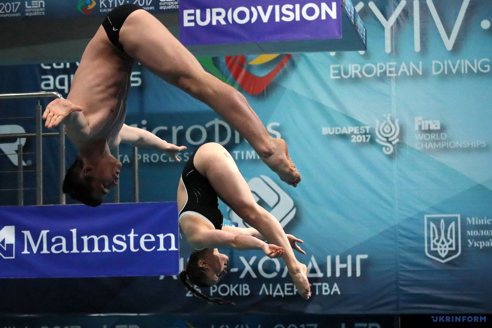 В Киеве продолжается чемпионат Европы по прыжкам в воду / Фото: Багмут Павел. Укринформ