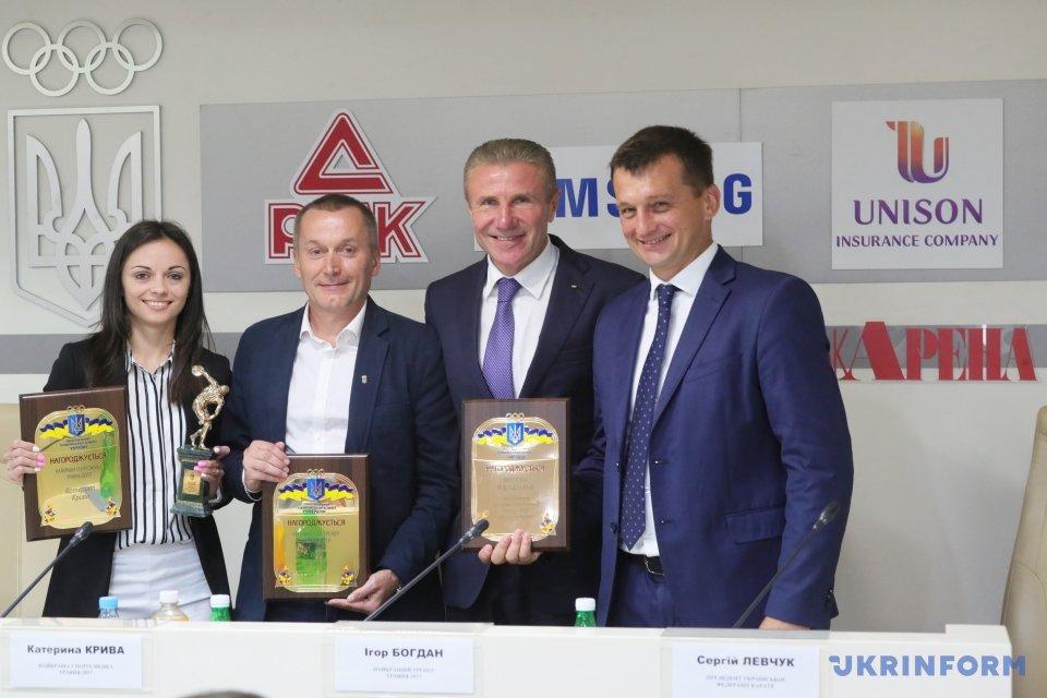 Сергей Левчук, Сергей Бубка, Игорь Богдан, Екатерина Кривая (справа налево)