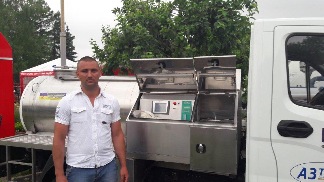 Мобільна станція прийому молока на базі Газелі для ідентифікації продукції, визначення її якості, зберігання та транспортування