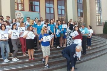 Information Policy Ministry, students hold action in support of journalists Sushchenko, Semena. Photos
