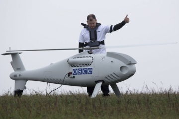 OSCE unmanned aerial vehicle spots 40 tanks near Donetsk