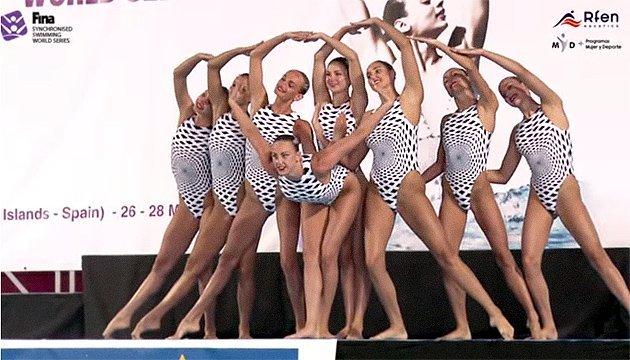 乌克兰花样游泳在世界巡回赛中获得5枚奖牌