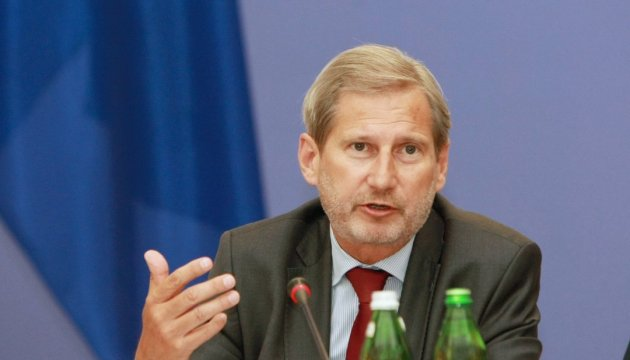 EU Commissioner Hahn announces EUR 50 mln in aid to Ukraine
