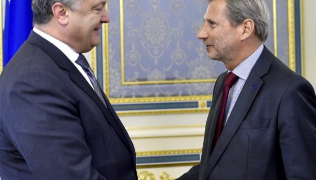 President Poroshenko informed EU Commissioner Hahn about security situation in Donbas