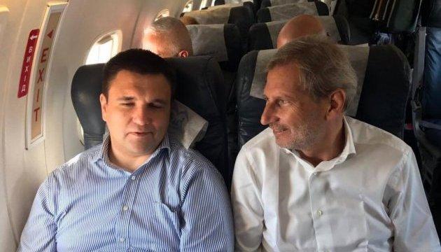 Клімкін та Ган вилетіли на Донбас