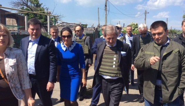 Хана и Мингарелли поразили последствия обстрела Широкино - Геращенко