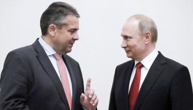 Глава МИД ФРГ обсудил с Путиным украинский вопрос