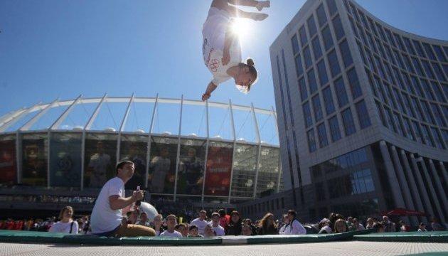Несколько тысяч человек приняли участие в Олимпийском дне в Киеве