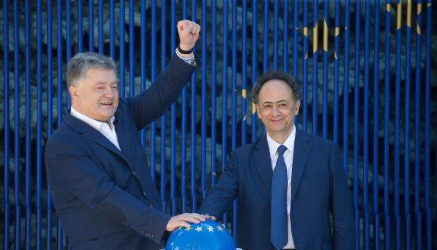 Poroshenko, Mingarelli launch 'visa-free timer'