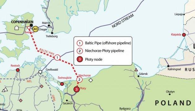 Будівництво Baltic Pipe коштуватиме близько 1,7 мільярда євро
